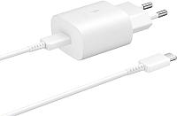 Зарядное устройство сетевое Samsung USB Type-C Power Delivery / EP-TA800XWEGRU (белый) -