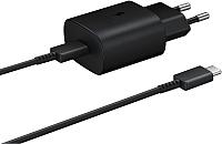 Зарядное устройство сетевое Samsung USB Type-C Power Delivery / EP-TA800XBEGRU (черный) -