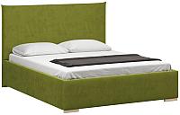 Полуторная кровать Woodcraft Ницца 140 вариант 10 (зеленый велюр) -