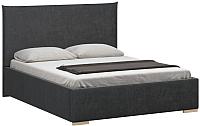 Двуспальная кровать Woodcraft Ницца 180 вариант 7 (искусственная шерсть/грифельно-серый) -
