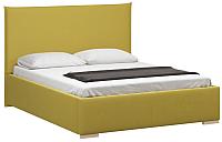 Двуспальная кровать Woodcraft Ницца 180 вариант 9 (горчичный велюр) -