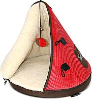Домик для животных Tramps Юрта / 667626/RD (красный) -