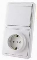 Блок выключатель+розетка TDM SQ1813-0001 -