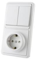 Блок выключатель+розетка TDM SQ1813-0002 -