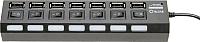 USB-хаб 5bites HB27-203PBK -