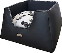 Лежанка для животных AntePrima Tronky / TRPELDOGNER01 (черный/собачки) -