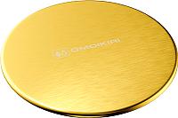 Накладка на сливное отверстие Omoikiri 4957090 (светлое золото) -