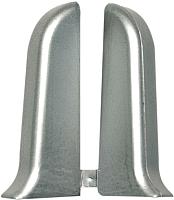 Заглушка для плинтуса Ideal Комфорт 081 Металлик серебристый (2шт) -