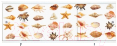 Экран для ванны МетаКам Монолит-М 1.68 (ракушки)