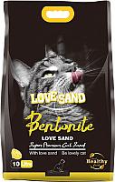 Наполнитель для туалета Love Sand Лимон / LS-006 (10л) -
