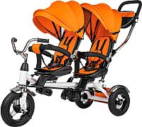 Детский велосипед с ручкой Sundays Для двойни / SJ-5231 (оранжевый) -