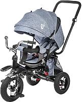 Детский велосипед с ручкой Sundays SJ-BT-16 (серый) -