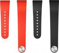 Комплект ремешков для фитнес-трекера Sony SWR310BL (черный, красный) -