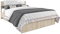 Полуторная кровать ДСВ Софи СКР 1400.1 (сонома/белый глянец) -
