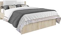 Двуспальная кровать ДСВ Софи СКР 1600.1 (сонома/белый глянец) -