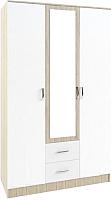 Шкаф ДСВ Софи СШК 1200.1 (сонома/белый глянец) -