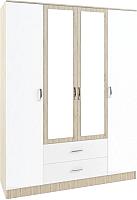 Шкаф ДСВ Софи СШК 1600.1 (сонома/белый глянец) -