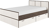 Полуторная кровать ДСВ Весна КРВ 1400.1 (венге цаво/дуб белфорд) -