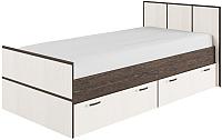 Односпальная кровать ДСВ Весна КРВ 900.1 (венге цаво/дуб белфорд) -