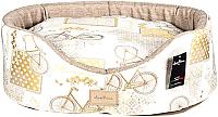 Лежанка для животных AntePrima Nathalie / NAYELBIKE03 (бежевый/принт велосипед) -