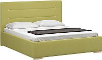 Двуспальная кровать Woodcraft Рона 160 вариант 6 (оливковая рогожка) -