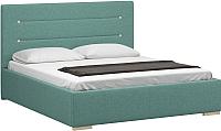 Двуспальная кровать Woodcraft Рона 160 вариант 9 (лазурная рогожка) -