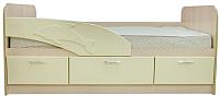 Кровать-тахта Олмеко Дельфин 06.223 180 правый (ваниль) -