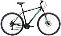 Велосипед Black One Onix 29 D Alloy 2020 (18, черный/серый/зеленый) -
