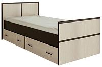 Односпальная кровать Ricco Сакура 0.9 (венге/дуб атланта) -
