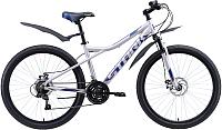 Велосипед STARK Slash 26.1 D 2020 (16, серый/голубой) -