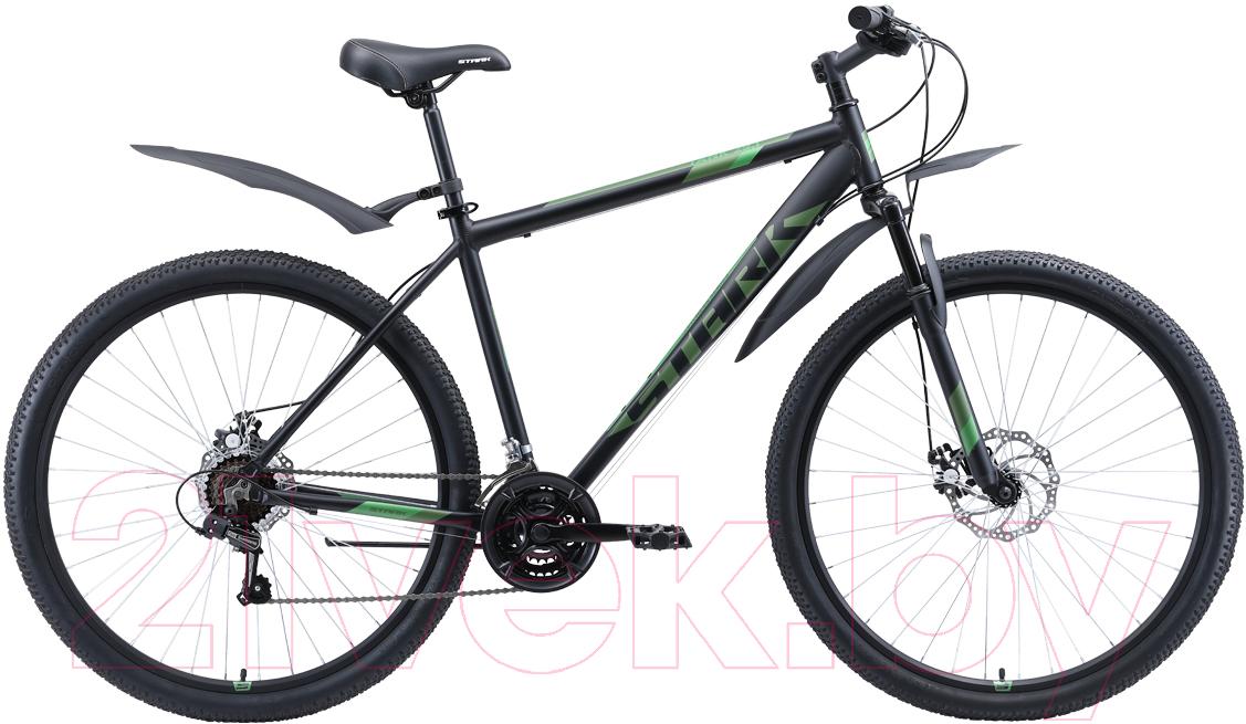 Купить Велосипед STARK, Tank 29.1 D 2020 (18, черный/зеленый), Россия