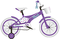 Детский велосипед STARK Tanuki 16 Girl 2020 (фиолетовый/бирюзовый) -