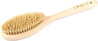 Щётка для тела FOI cosmetics Натуральная из сизаля средней жесткости с ручкой (32см) -