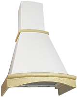 Вытяжка купольная Elikor Ротонда 60П-650-П3Л (бежевый/дуб белый/патина серебро) -