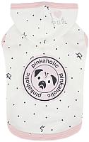 Толстовка для животных Pinkaholic Royal Pug с капюшоном / NARA-TS7307-OW-M (M, белый) -