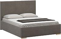 Двуспальная кровать Woodcraft Шерона 160 вариант 2 (дымчатый бархат) -