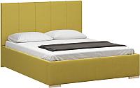 Двуспальная кровать Woodcraft Шерона 160 вариант 6 (горчичный велюр) -