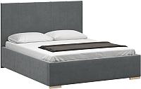 Полуторная кровать Woodcraft Шерона 140 вариант 5 (свинцовый бархат) -
