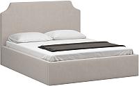 Полуторная кровать Woodcraft Довиль-П 140 вариант 5 (светлый велюр) -