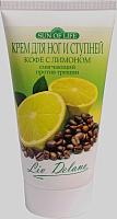 Крем для ног Liv Delano Кофе с лимоном смягчающий против трещин (150г) -
