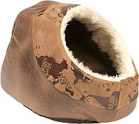 Лежанка для животных Duvo Plus Cuddy Cave Explorer / 300027/DV (коричневый) -