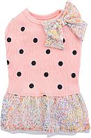 Платье для животных Pinkaholic Tella / NASA-TS7404-IP-S (S, розовый) -