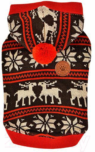 Купить Свитер для животных Puppia, Prancer с капюшоном / PASD-TS1655-BR-S (S, коричневый), Южная корея