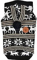 Свитер для животных Puppia Prancer с капюшоном / PASD-TS1655-BK-S (S, черный) -
