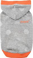 Толстовка для животных Puppia Luda с капюшоном / PASA-TS1606-MG-M (M, серый) -