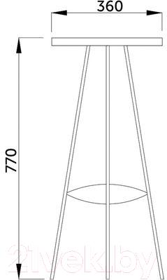 Табурет барный Седия Aero C (белый/хром)