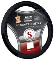 Оплетка на руль AVS GL-200S-B / A78659S (S, черный) -