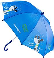 Зонт-трость Котофей 03707015-10 (синий) -