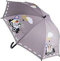 Зонт-трость Котофей 03707038-00 (серый) -