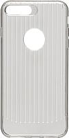 Чехол-накладка Case Focus для iPhone 7 plus/8 plus (черный прозрачный) -